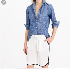 J Crew Silk Crepe Athletic Shorts NWT